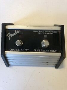 Fender 2 Button Foot Switch Guitar Amp Channel Select Drive PN 0050419000