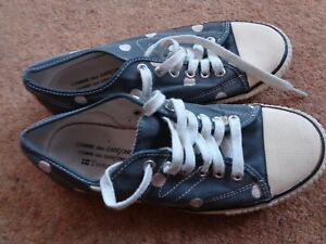 Comme De Garcon Tretorn sneakers pumps shoes UK Size 5 blue white polka dot