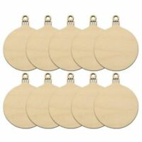 10pcs Wooden Round Bauble Hanging Christmas Tree Blank Decorations Gift Tag C7C1