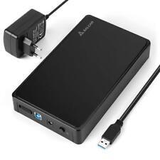 "USB 3.0 SATA Festplatten Gehäuse SATA Gehäuse für 3,5"" 8,89cm SATA Festplatte"