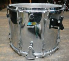 Ludwig 12x15 Stainless Steel Marching Snare Drum Vintage 1970's