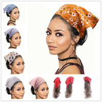 Women Wide Elastic Headwraps Stretch Headband Floral Print Scrunchies Hair Scarf