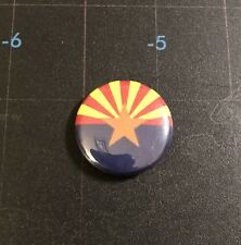 "Arizona State Flag 1"" Button A008B Badge Pin"