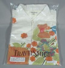 NWT TRAVELSMITH FRESH BOUQUET LADIES LONG SLEEVE SILK SHANTUNG JACKET MED 26450