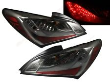 Set of Pair Chrome Smoke LED Taillights for 2010-2012 Hyundai Genesis Coupe