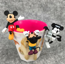 1 Set of 3 Disney Mickey Mouse Cup Mug Partner Pal Figures Toy Gift Cake Decor