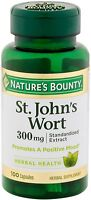 Nature's Bounty St. John's Wort 300 mg Capsules 100 ea (Pack of 2)