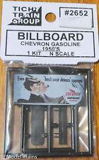 Tichy Train Group #2652 (N Scale) Billboard Chevron Gasoline 1950's sign era