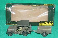SOLIDO Jeep WILLYS avec remorque ref 256 + boite