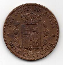 10 Centimos 1877 Spanien