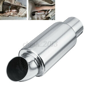 2.5'' Car Muffler Exhaust Pipe Sound Tuning Silencer Resonator Stainless Steel