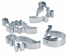 Kitchen Craft Stainless Steel Dinosaur Biscuit & Cookie Cutters x 4 assorted