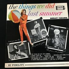 """SHELLEY FABARES """"THE THINGS WE DID LAST SUMMER"""" LP COLPIX STEREO 1962 VG+"""