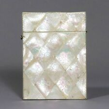 Engraved Mother of Pearl Calling Card Case c.1870