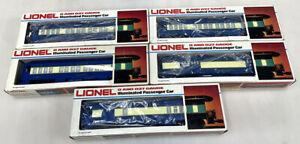 Lionel Blue Comet 5-Car Passenger Set W/Baggage, Combo, Observation + Very Nice!