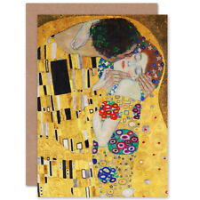 Gustav Klimt The Kiss Fine Art Blank Greeting Card