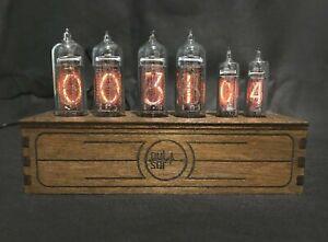 Nixie Tube Clock Pulsar IN-14 + IN-16 RGB 6-tubes