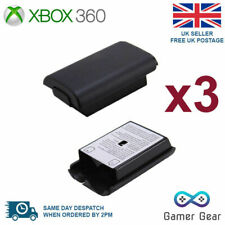 3x Battery Back Cover Case Shell Pack for Xbox 360 Controller - Black