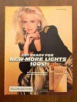 1984 More Lights 100's Cigarettes Vintage Print Ad/Poster 80s Pop Art Decor