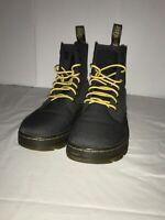Dr. Marten Combat Boots Size US 10, UK 9 Charcoal Nylon