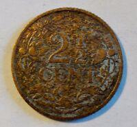 Niederlande / Netherland - 2 1/2 Cent 1918, Königin Wilhelmina, 1890-1948 ss