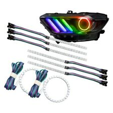 For Ford Mustang 15-17 SMD ColorSHIFT Halo Kit w DRL for Headlights