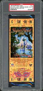 Desmond Howard Autographed 1997 Super Bowl Ticket Packers Auto 8 PSA 20009956