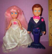 Vintage Hasbro My Pret 00006000 ty Little Mermaid Pony Playskool Doll Wedding Bride Groom!