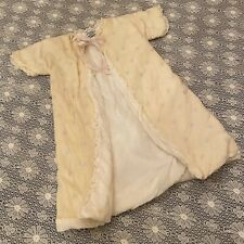 Vintage Liliputian Bazaar Best & Co Yellow Bows Baby Robe Wool