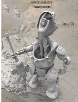 1/35 Unpainted Mechanical female soldier Figure Resin Garage Kit Character Model