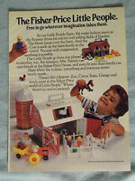 1985 Magazine Ad Page For Fisher-Price Little People Farm Toys Advertisement