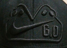 3fcca73b410 Nike 6.0 Cap 7.5 Monster Mutant Ghost Logo Hat Fitted Embroidered Black on  Black