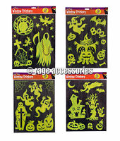GLOW IN THE DARK STICKERS WINDOW WALL DECORATIONS HALLOWEEN SELF CLING REUSABLE