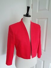 BNWT Precis Petite Bright Coral Occasion Cropped Jacket size 14