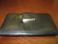 Very Soft Black Leather Enzo Angiolini Checkbook/Card Holder & Change Purse