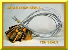 CABLE-LOCK SECURITY SEALS, CARGO / TANKER, YELLOW / GOLD, ALL-METAL, TEN SEALS