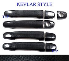 BLACK KEVLAR 4 DOOR HANDLE HAND COVER FOR TOYOTA HILUX VIGO CHAMP SR5 2005-2014
