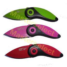 3 x Couteau pliable compact avec lame inox parfait pour cuisine pêche chasse