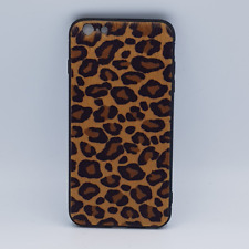 iPhone 6 Plus hoesje - panter look - pluizig - geel