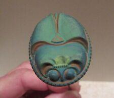 Antique Scarab Hat Pin Czechoslovakian Molded Glass Art Nouveau Art Deco