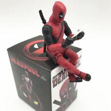 AU Marvel X-Men Deadpool Action Figure Sitting Posture Statue Figurine Toys Gift