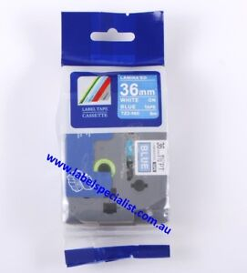 Brother TZe-565 TZ-565 compatible laminated 36mm x 8m White-on-Blue Tape