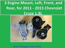 3 Engine Mount, Left, Right, Rear for 2011 2012 2013 - 2015 Chevrolet Cruze 1.8L