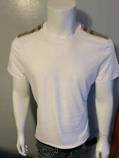 Burberry Brit Para Hombre De Cuadros remiendo de hombro Manga Corta Camiseta Talla S, M, L, XL