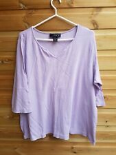 Ladies Lilac Stretch 3/4 Sleeve Top Size 22-24 by Venezia