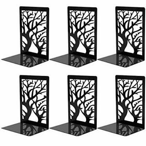 Bookends For Shelves Decorative Book Ends 3 Pairs Non Skid Book Stoppers Black