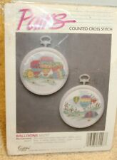Pairs Counted Cross Stitch Hot Air Balloon Kit w/ Frames Golden Bee 60297
