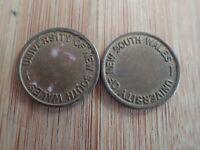 2 x University of New South Wales photocopy token (Lot 5)