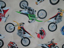 MOTOCROSS MOTORCYCLE HELMET DIRT BIKE RACING CREAM COTTON FABRIC BTHY