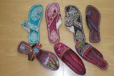 Flip Flop , Sommerschuhe, Sandalen , Lederschuhe, Indisch, Stickerei, Handmade